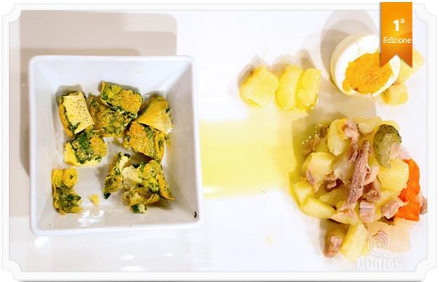 Consommé di gallina e insalata di gallina in agrodolce