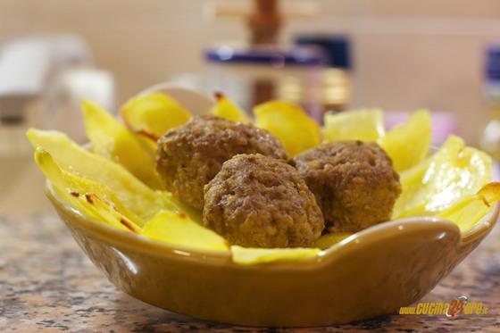 Polpettine con patate al forno. Gusto Giusto Senza Glutine