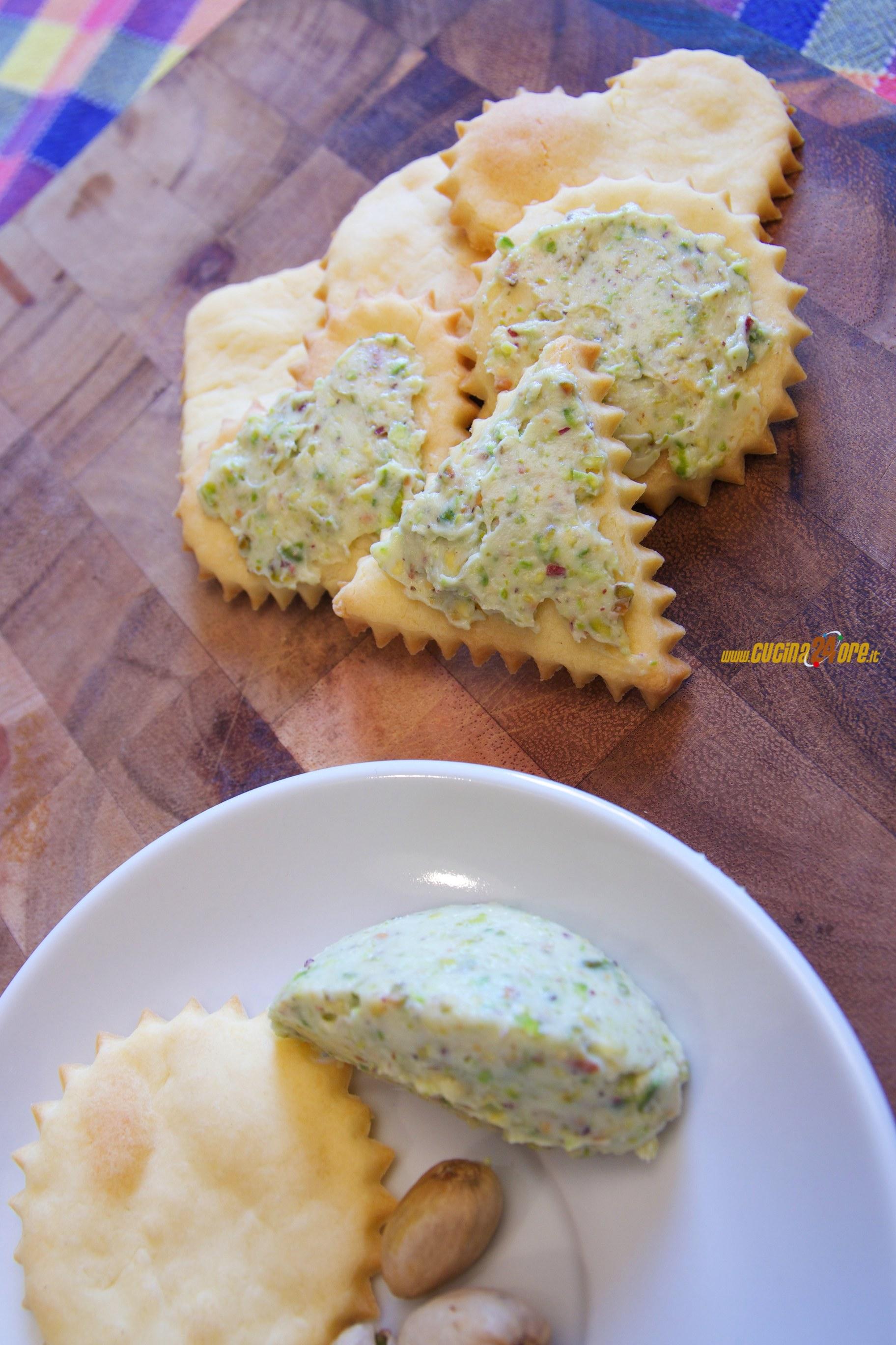Biscotti Salati Con Mascarpone Al Pistacchio Antipasto Senza
