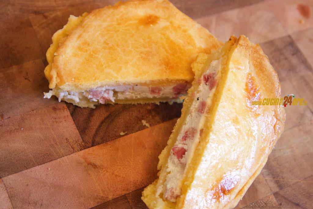 Tortino di Pasta Brisè con ricotta e prosciutto – Snack facile e veloce – FOTO e VIDEO