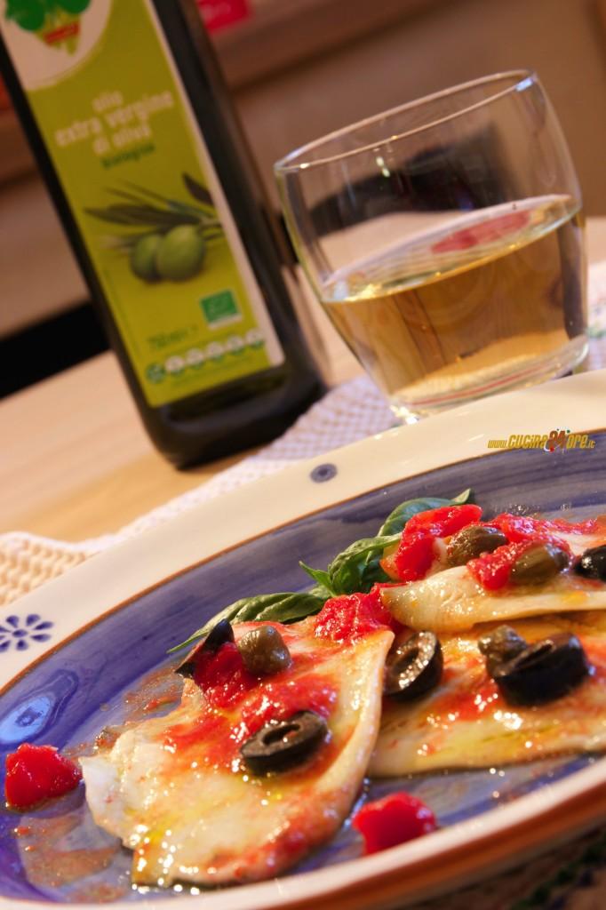 Deliziosi e leggerissimi i filetti di Platessa alla pizzaiola