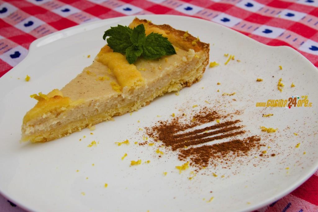 Crostata con Crema e Ricotta Biologica Anche Senza Glutine – Idea Per La Torta Del Primo Compleanno