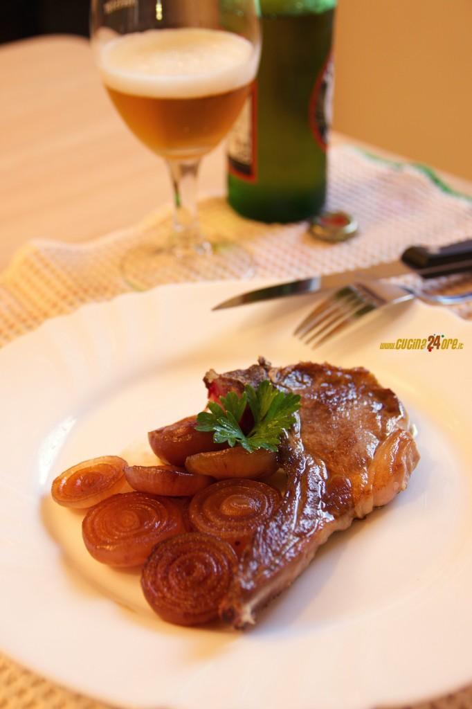 Ricette Facili per Pasqua. Costine di Ovino con Cipolle Caramellate all'Aceto Balsamico di Modena – FOTO e VIDEO
