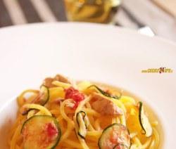 Spaghetti alla Chitarra Con Tonno e Zucchine – Primo Velocissimo