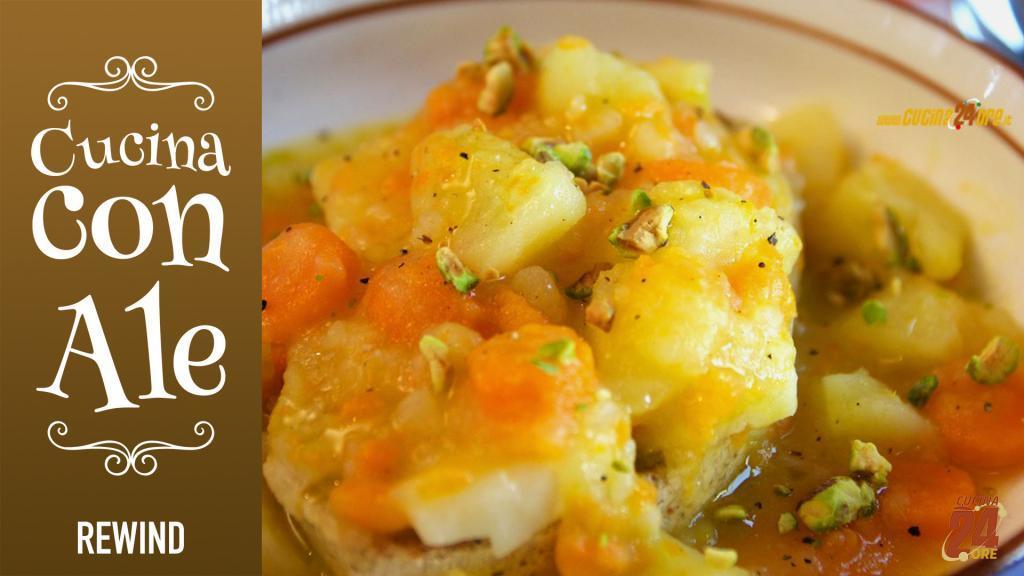 ZUPPA al PROVOLONE Con Carote, Patate e Granella di Pistacchi – Ricetta Facile, Veloce e Vegetariana