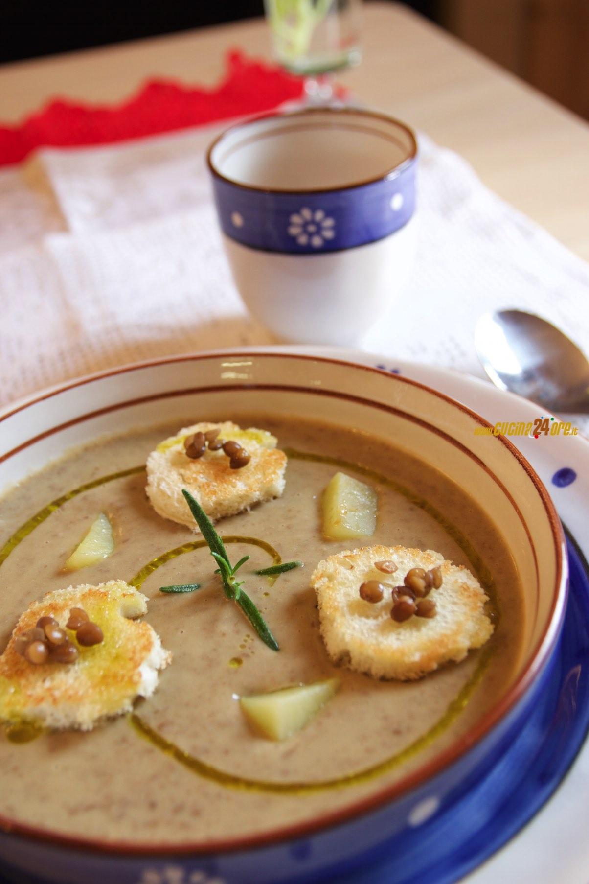 Crema di lenticchie e patate con crostini al rosmarino for Lenticchie d acqua