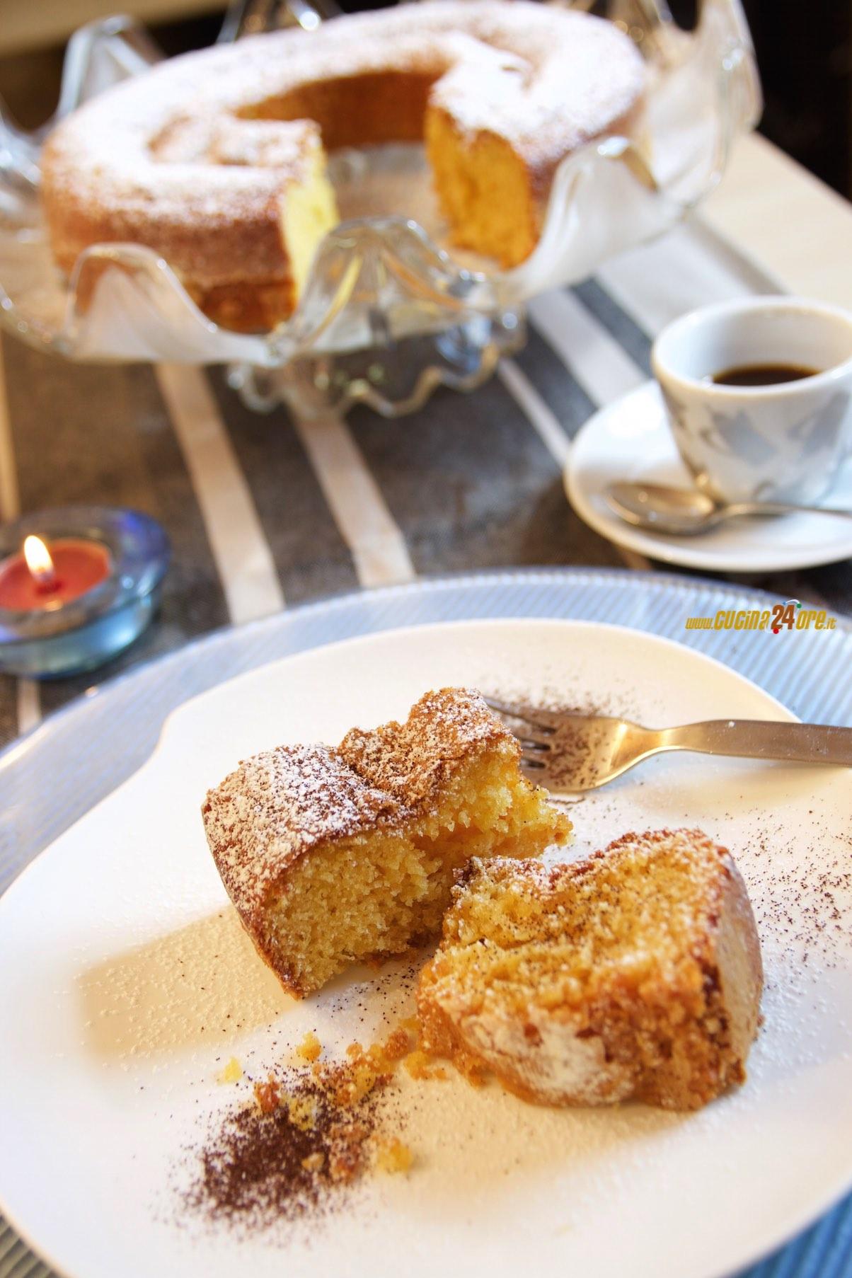 Ciambellone Senza Glutine con Yogurt al Caffè