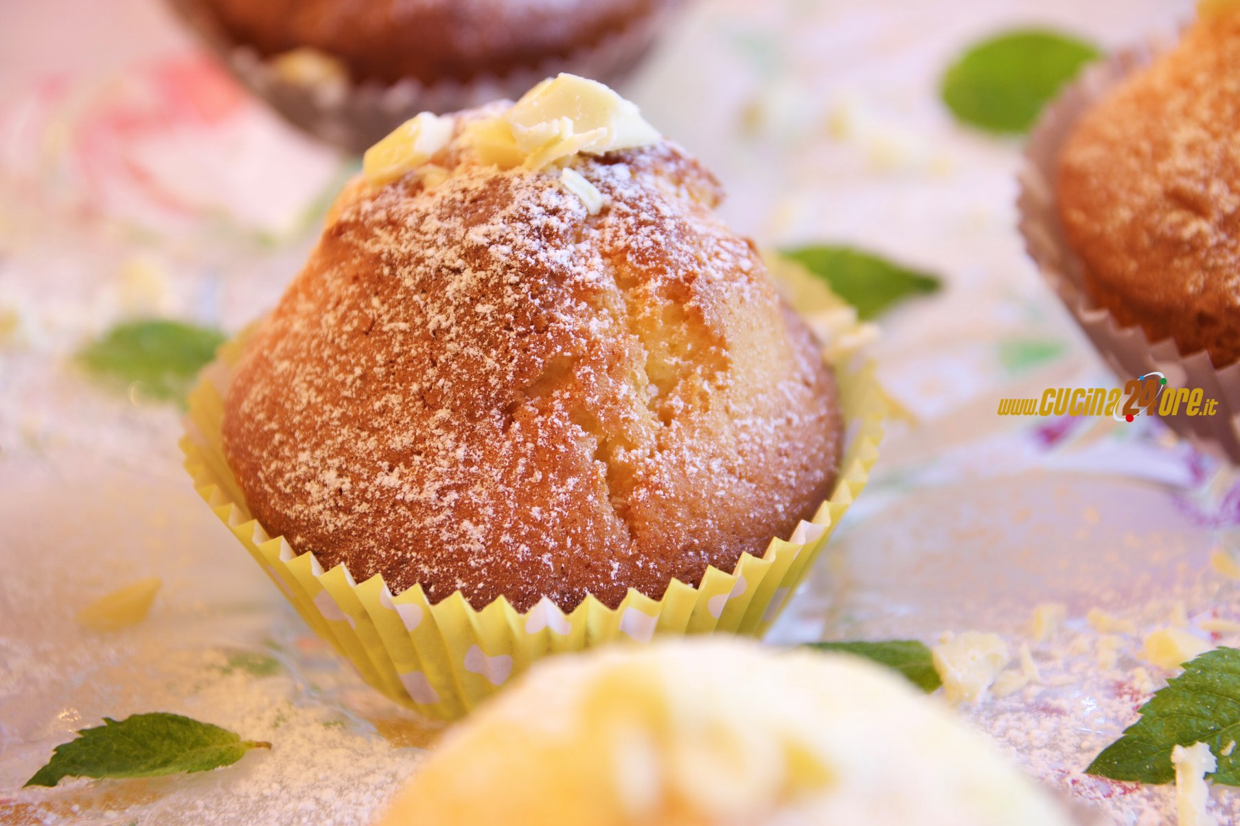 Leggeri e Fragranti, Muffin al Cioccolato Bianco Senza Burro e Glutine