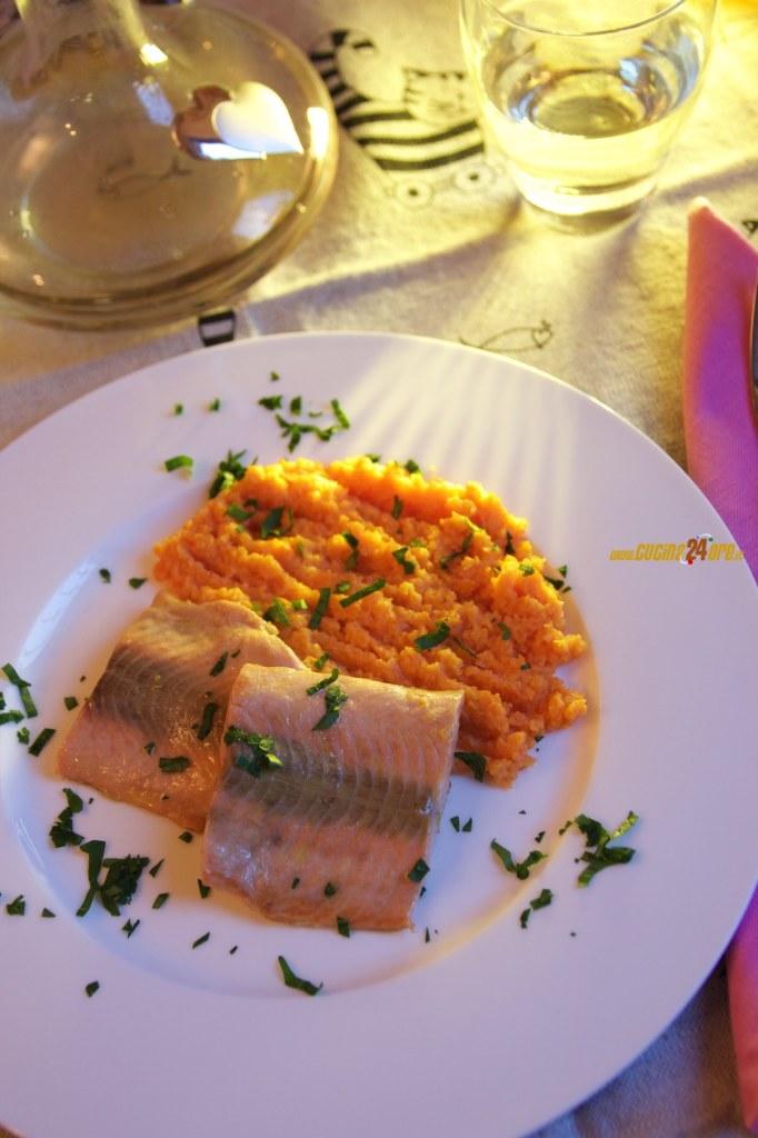 Purè di Carote con Salmone – Speciale San Valentino