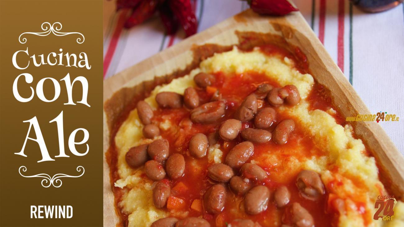 POLENTA con Fagioli TOSCANA – Piatto Tradizionale Senza Glutine   FOTO e VIDEO