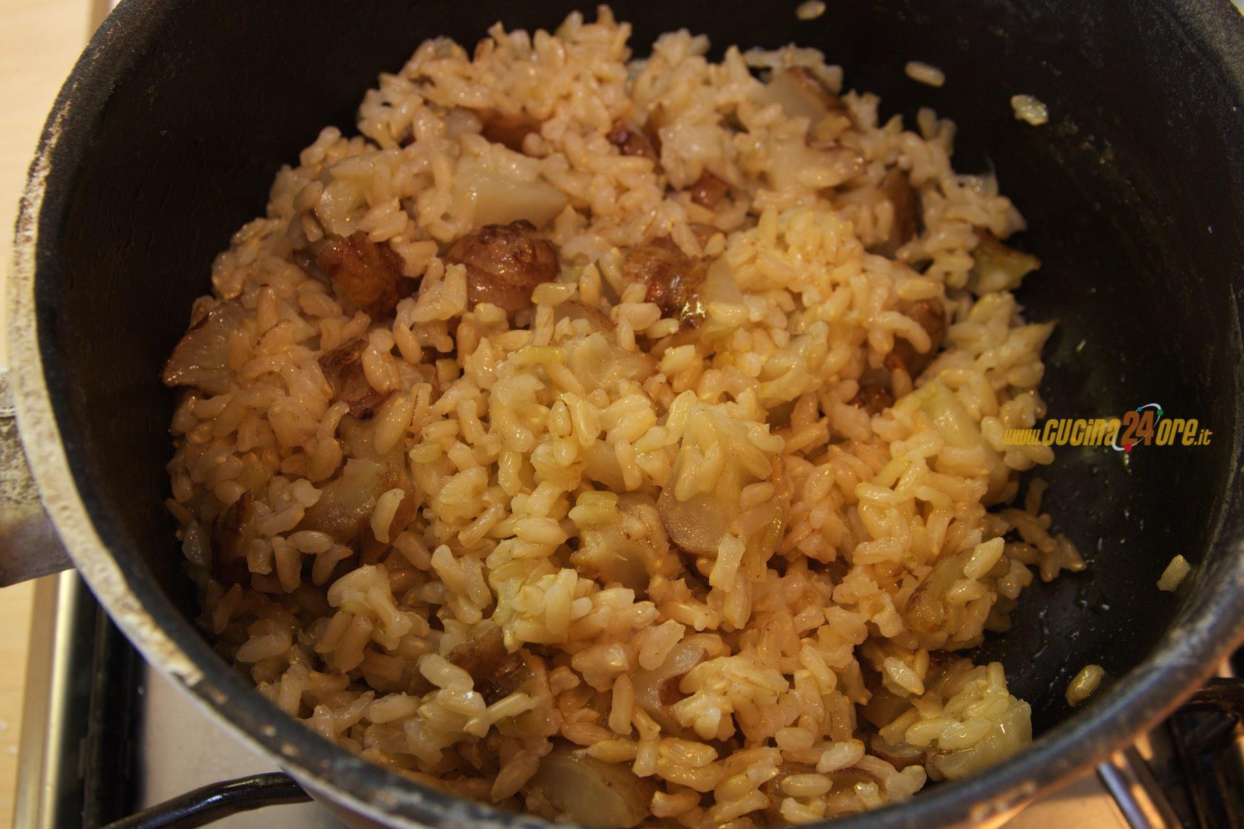 Riso integrale allo zenzero con topinambur primo light vegetariano ricette di cucina - Cucinare riso integrale ...