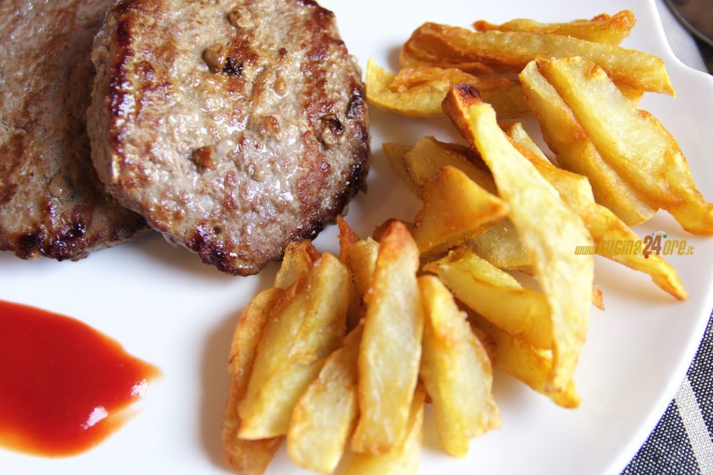 Topinambur Fritto con Hamburger Senza Glutine