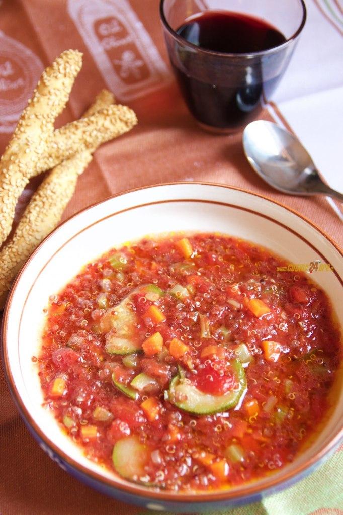Zuppa di Quinoa con Zucchine – Antipasto Sano Senza Glutine