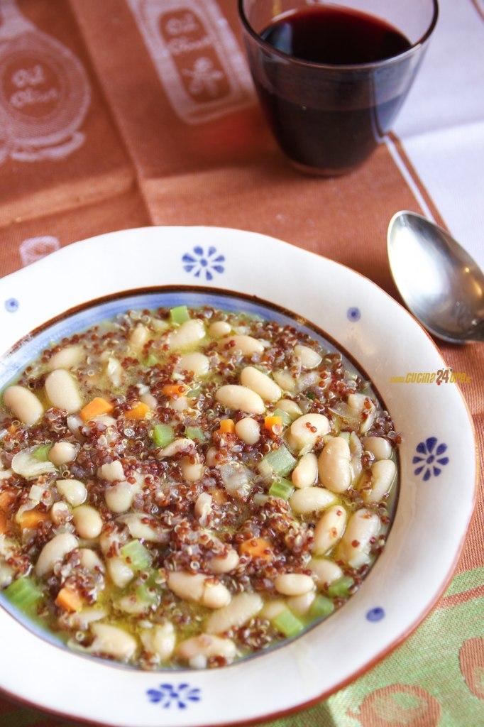 Zuppa di Fagioli Cannellini e Semi di Quinoa – Vegetariana e Senza Glutine