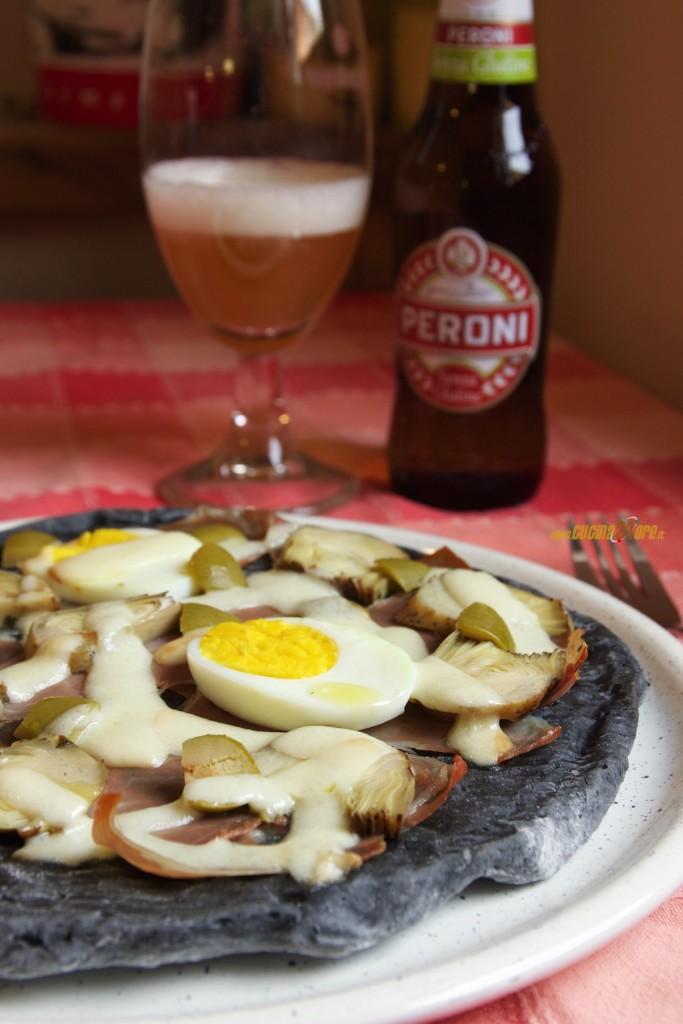 Pizza Capricciosa Nera Al Carbone Vegetale Anche Senza Glutine