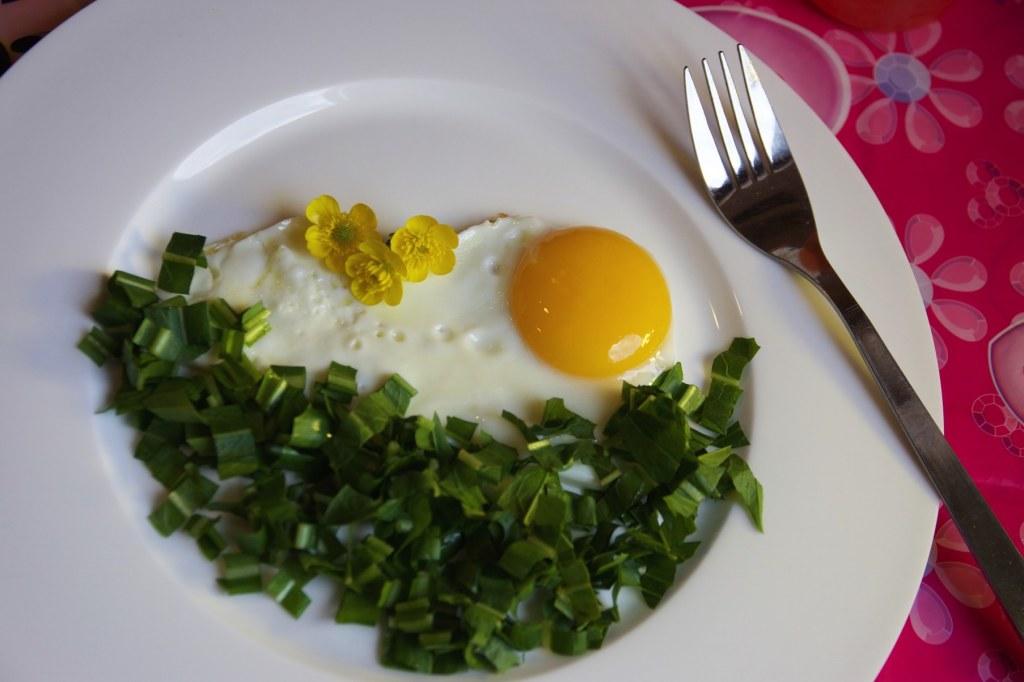 Uovo Al Sole Con Prato di Rucola – Secondo Piatto In 5 Minuti