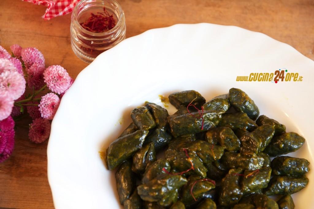 Gnocchi di Patate Neri allo Zafferano– Anche Senza Glutine