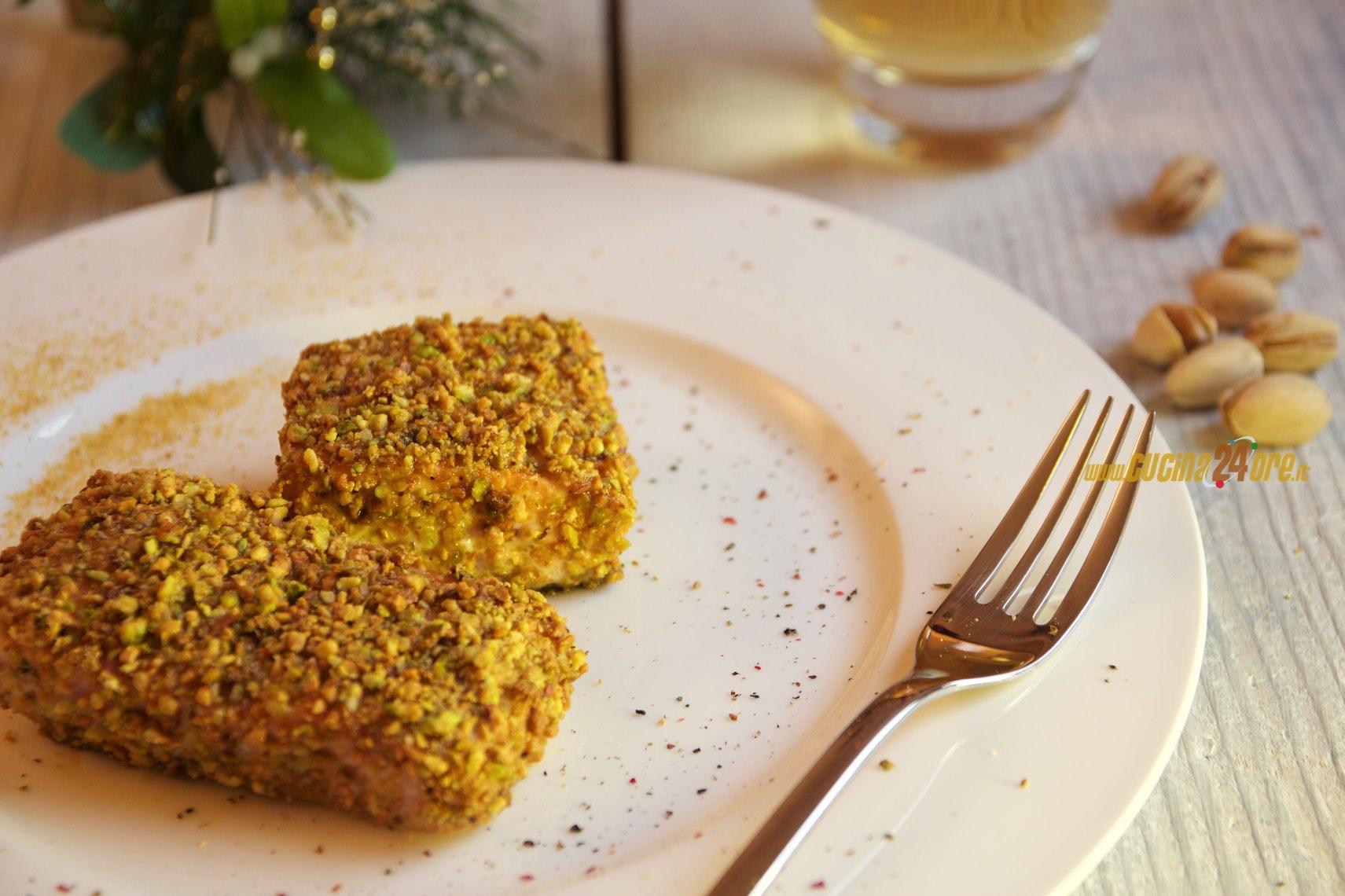 Salmone Panato Con Pistacchi