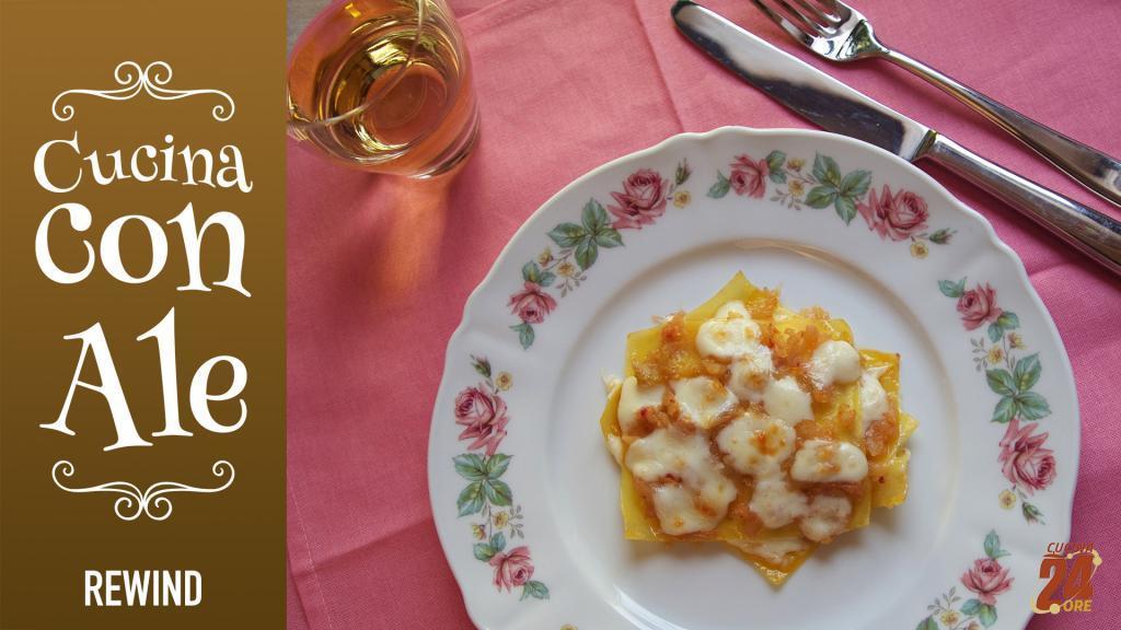 Lasagnetta Scomposta con Cavolo Bianco e Scamorza Affumicata – Primo piatto vegetariano