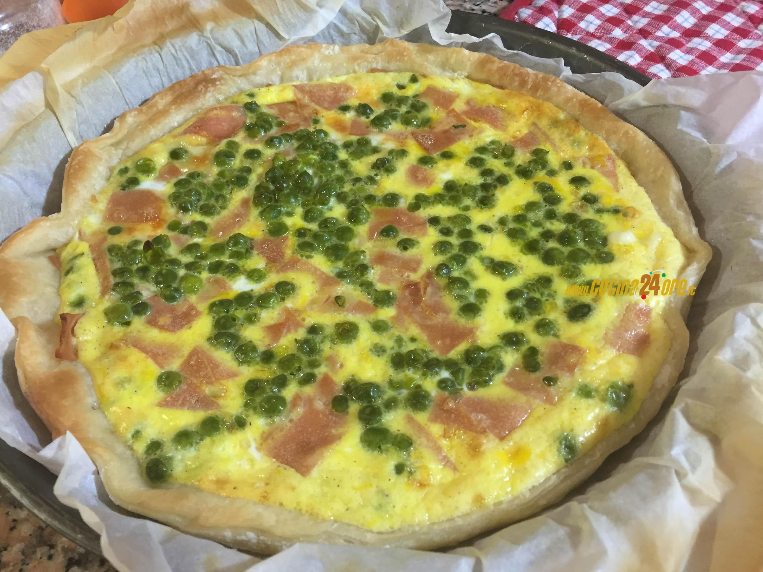 TORTA Rustica Filante di PISELLI e MORTADELLA | Rustic Pie
