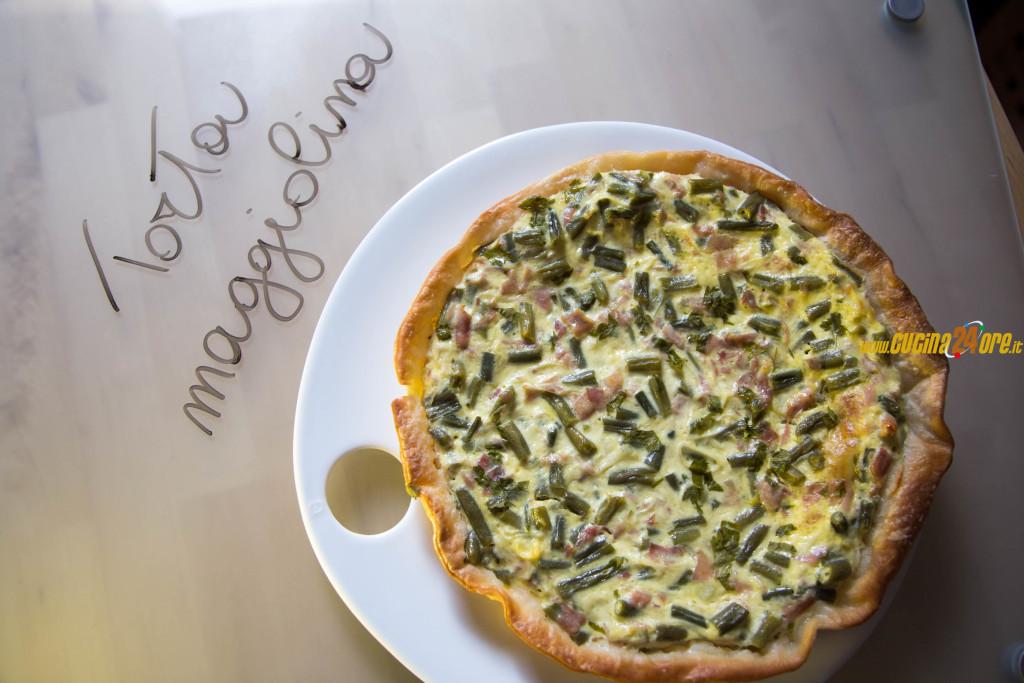 La Torta Maggiolina con Porri, Fagiolini e Prosciutto Cotto – Torta Rustica Senza Glutine