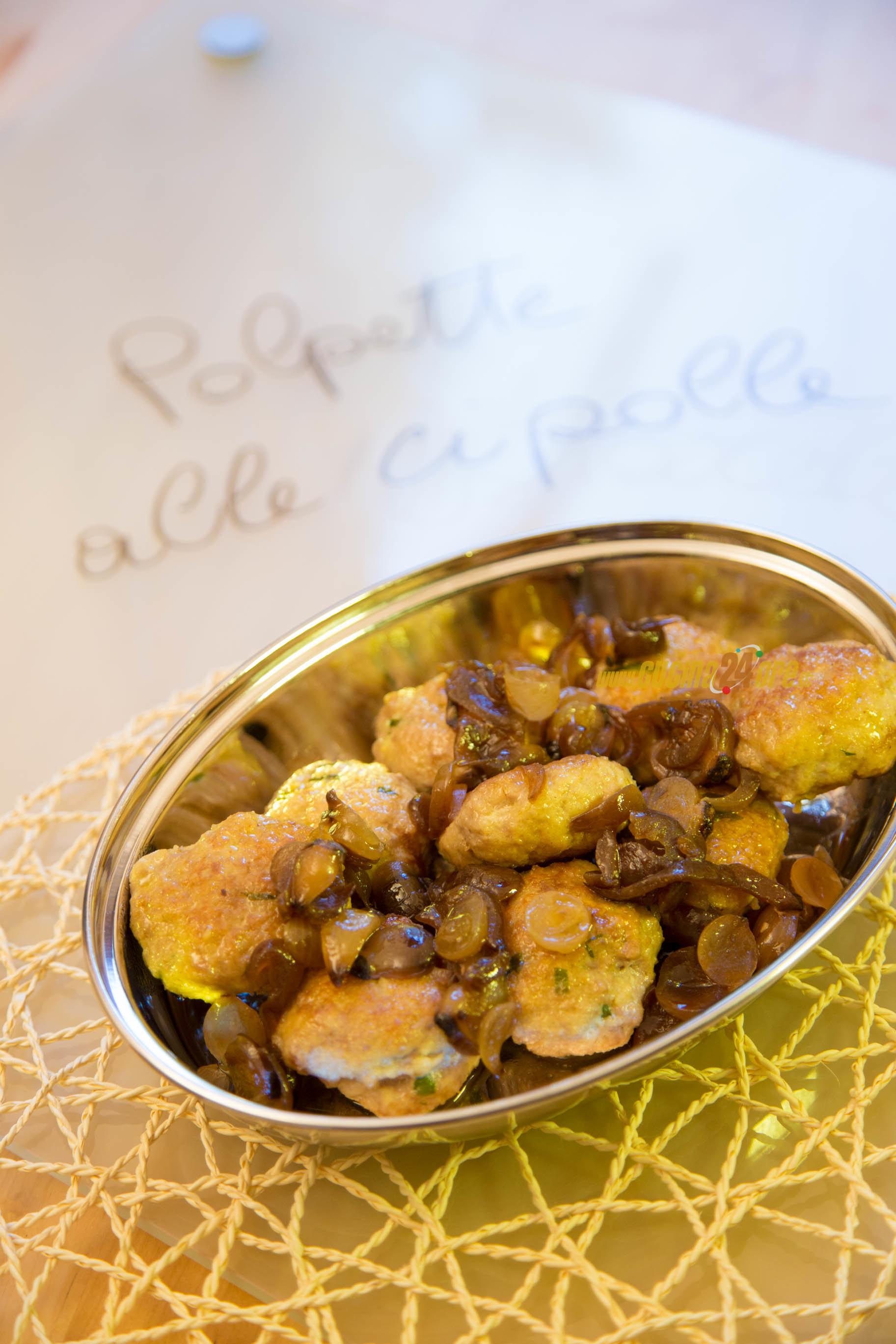 Cipolle che fare? Polpette con cipolle all'aceto balsamico. Già pronte o fatte in casa?