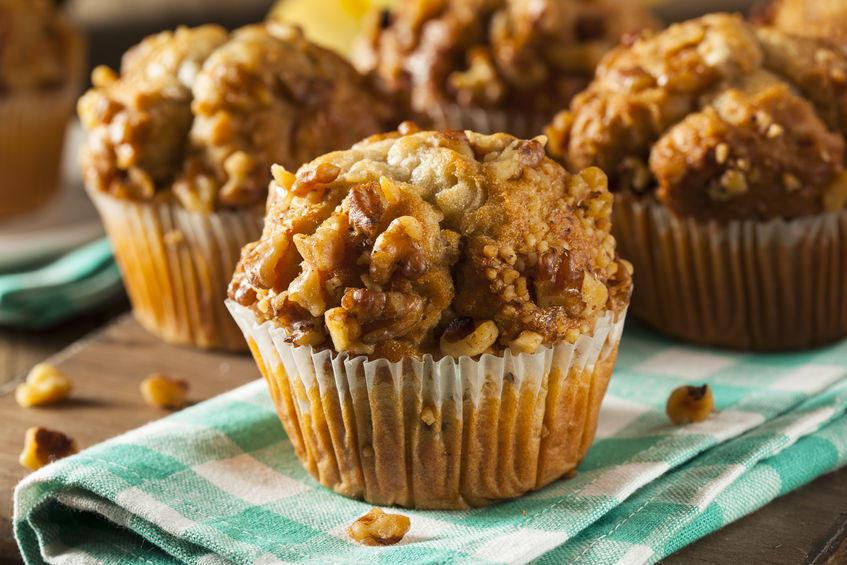 Cremor Tartaro e Bicarbonato per sostituire il Lievito. La ricetta vegana ma buona per tutti: muffin alle banane e noci