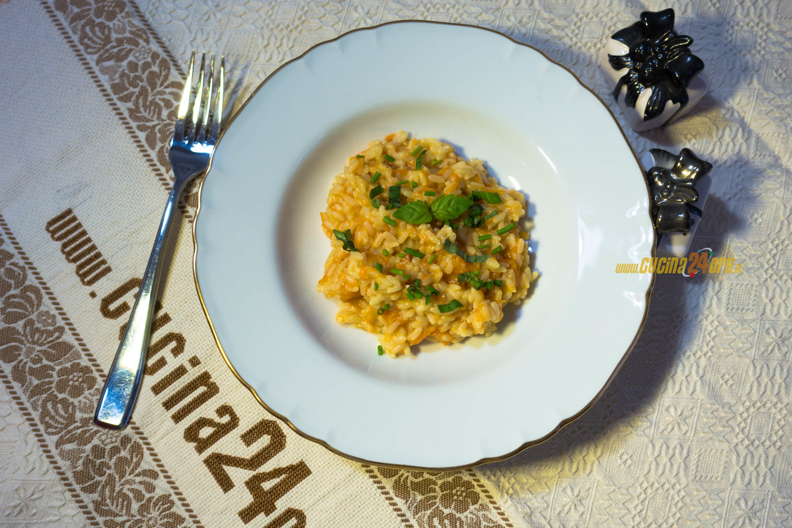 Risotto alla Zucca con Erbette – Ricetta Facile e Veloce per Halloween – Pumpkin Risotto with Herbs – Easy Halloween Recipe