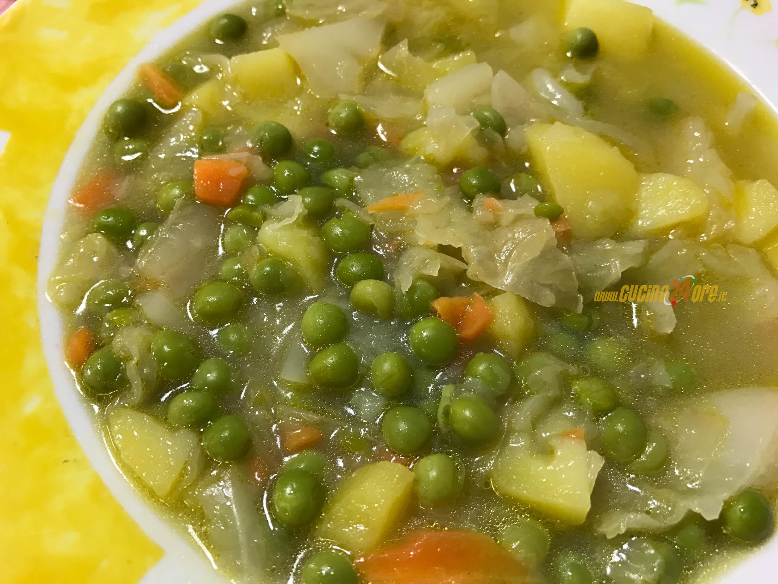 Zuppa di patate con cavolo e piselli   Speciale  Macchina del Pane   FOTO e VIDEO