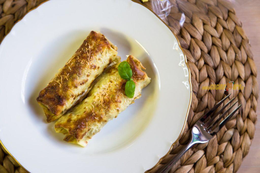 Cannelloni di Crepes Senza Glutine con Verdure e Crema di Ricotta al Limone – FOTO e VIDEO