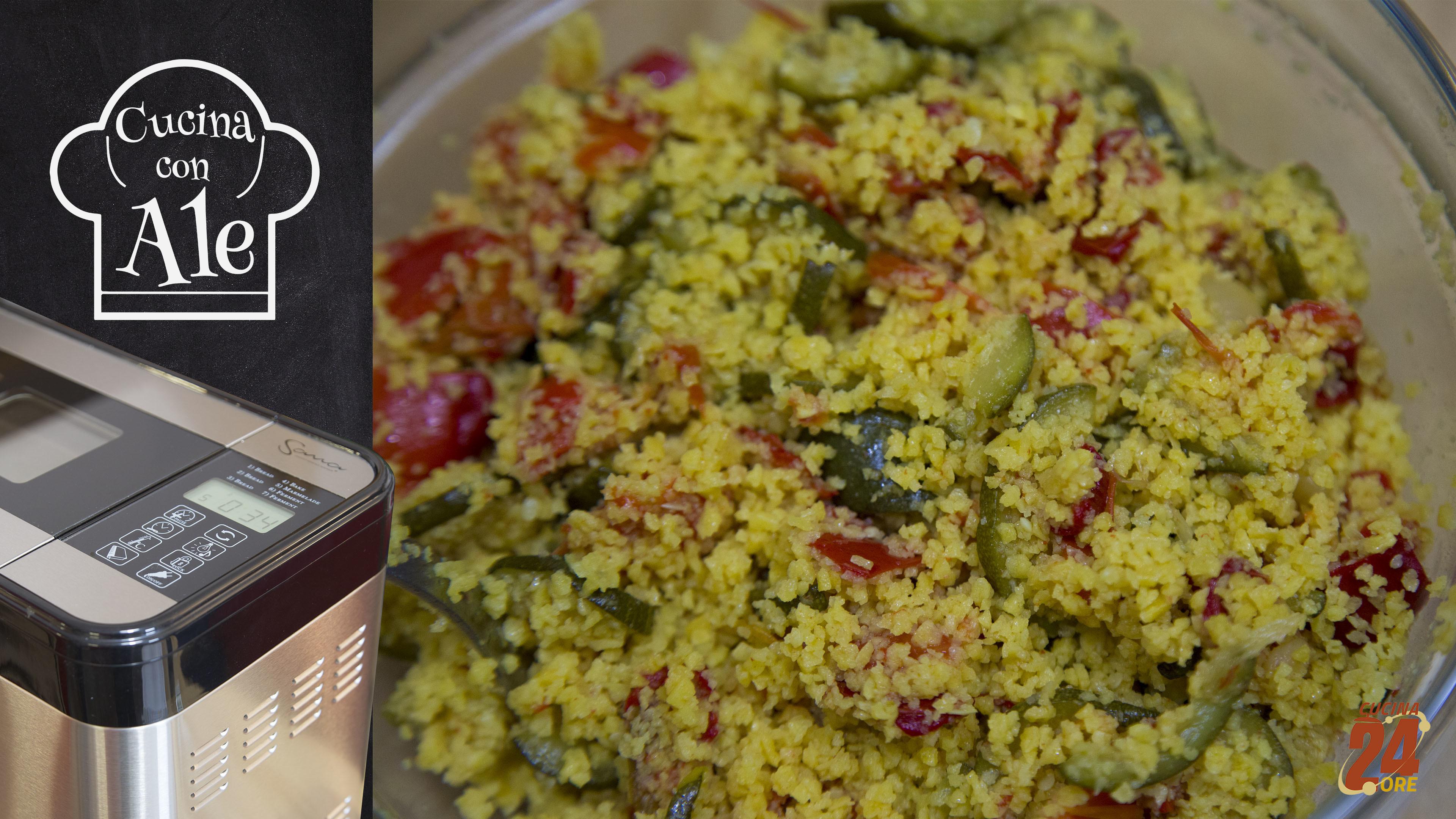 Cous Cous di Mais Senza Glutine con Zucchine e Peperoni, Saziante, Gustoso e Versatile | Anche con la Macchina del Pane