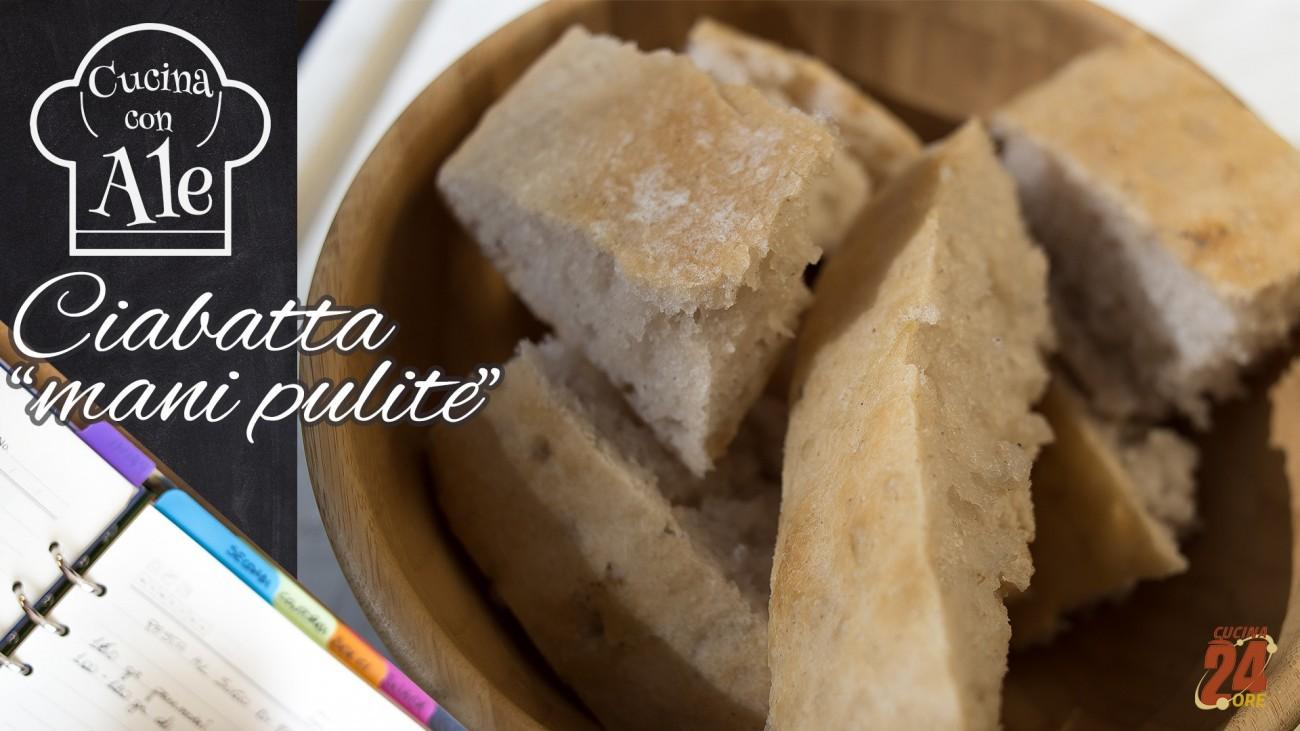 """Ciabatta """"Mani Pulite"""" Impastata nella Ciotola, Senza Glutine a Lunga Lievitazione"""