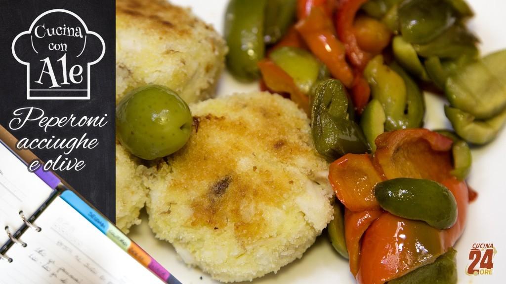 Peperoni in Padella con Acciughe e Olive, Contorno o Condimento Sfizioso per la Pasta