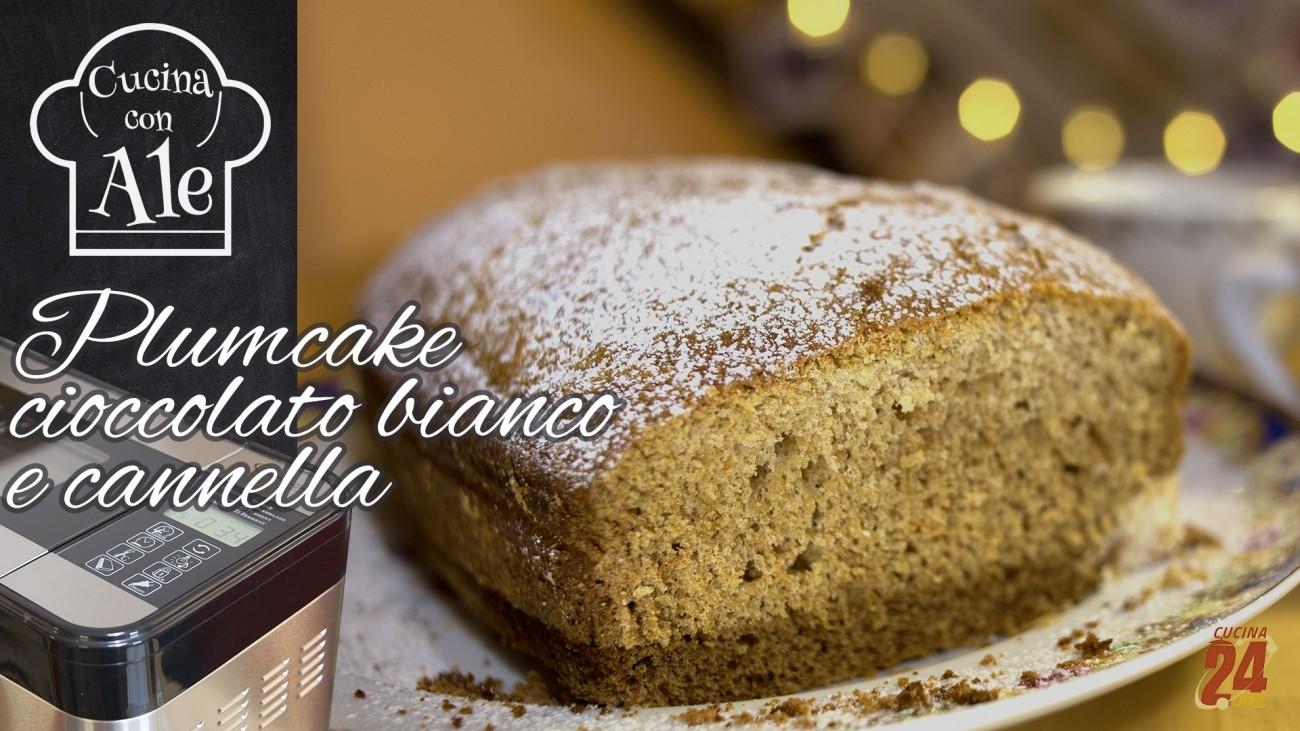Plumcake Cioccolato Bianco e Cannella Senza Burro, Lievito e Glutine con la Macchina del Pane