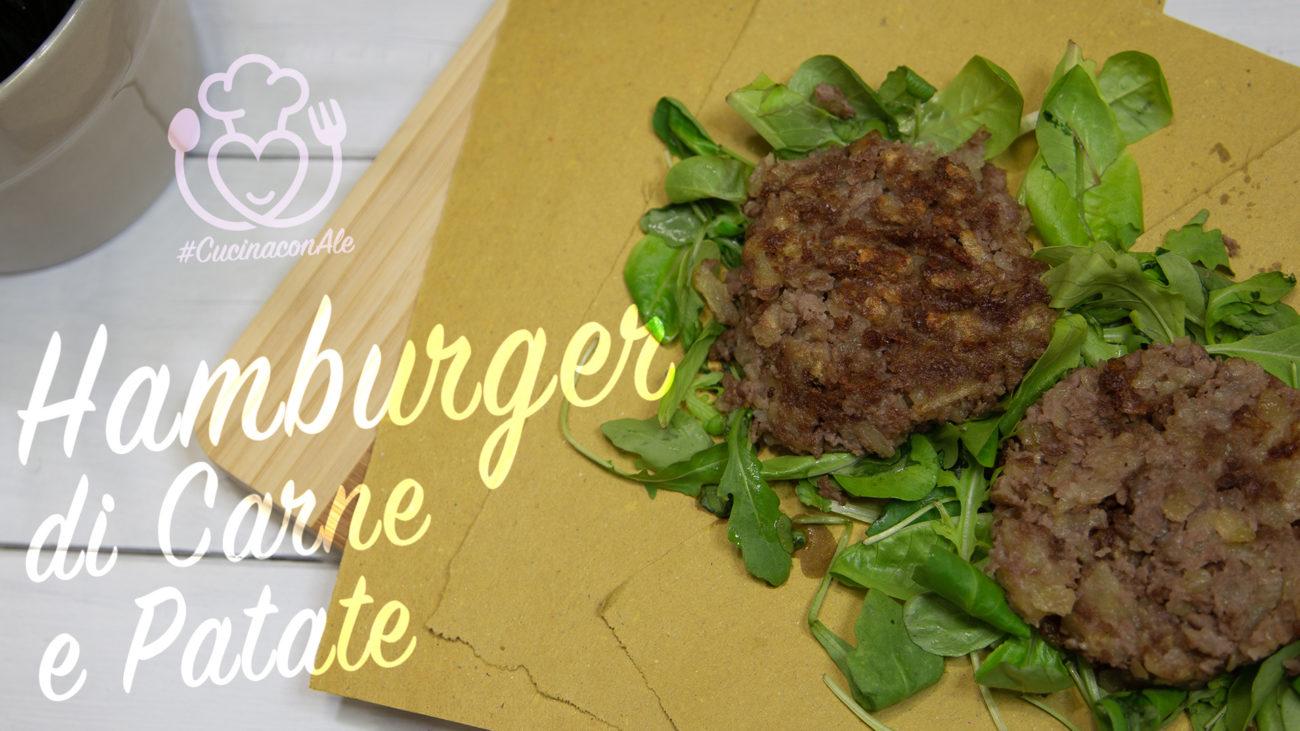 Hamburger di Carne con Patate. Facile, Veloce e Gustoso. Senza Glutine e Lattosio