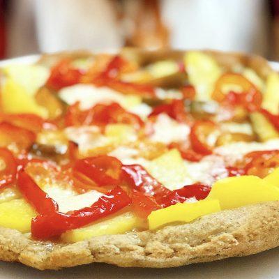 Pizza al Grano Saraceno con Patate e Peperoni. Cotta nel Fornetto Pizza!
