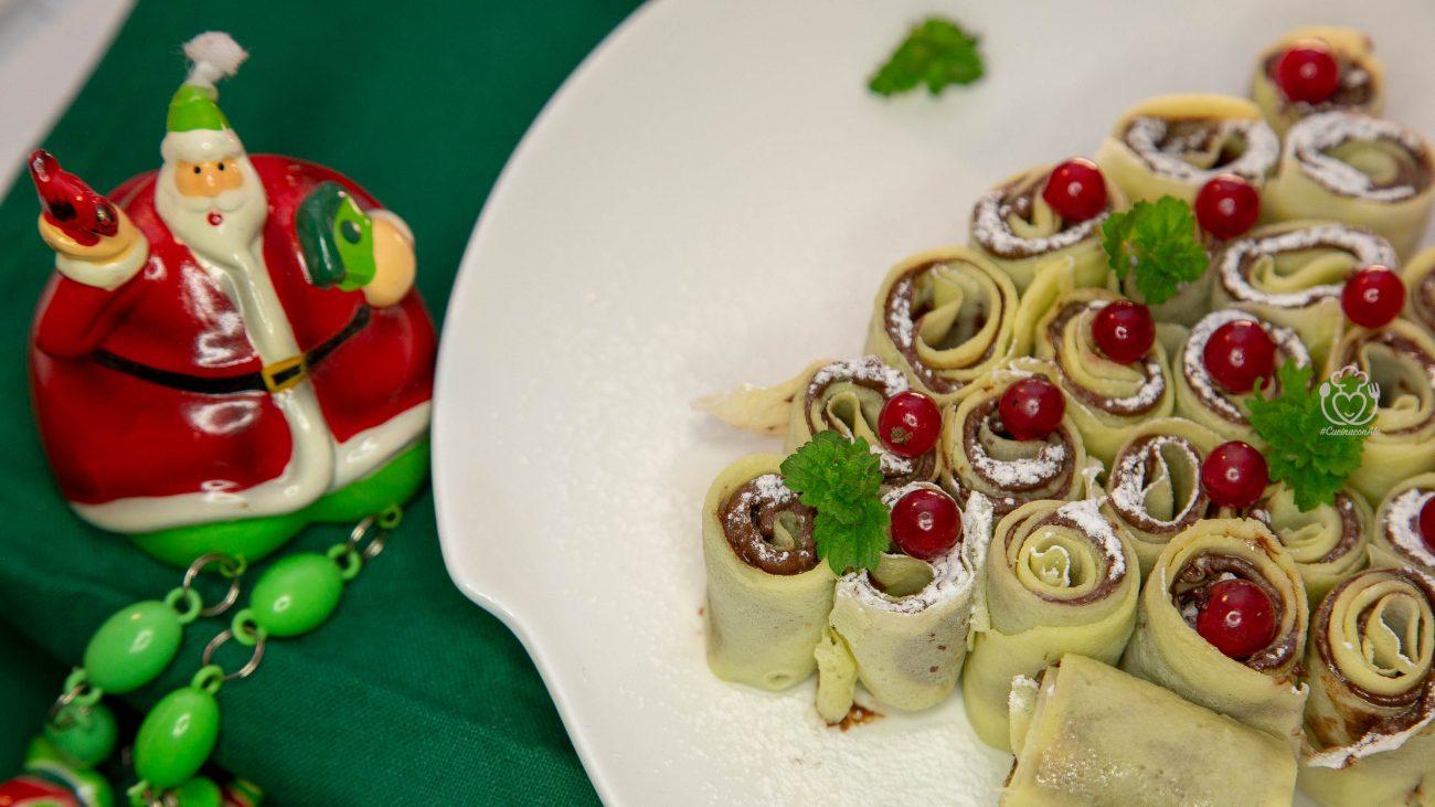 Alberello di Crepes alla Nocciolata (o Nutella)