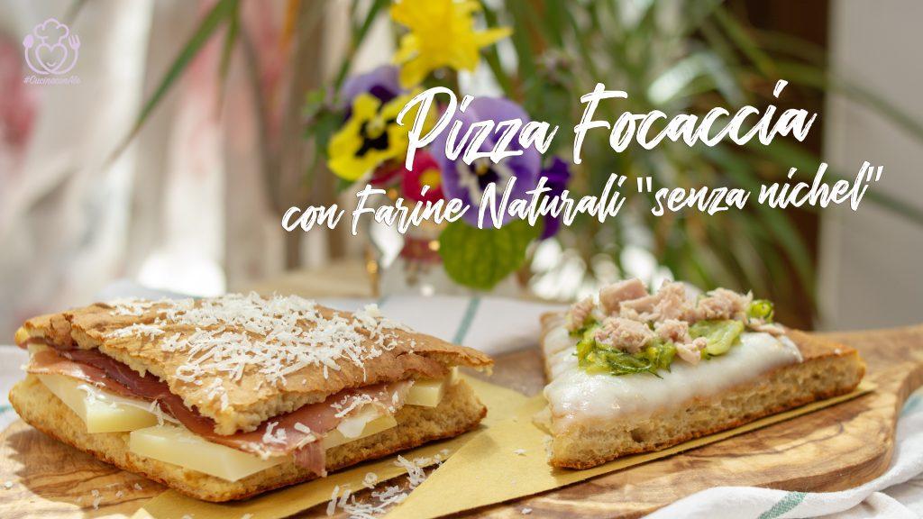 Pizza Focaccia con Farine Naturali, Senza Nichel e Senza Lievito, Pronta in 5 Minuti