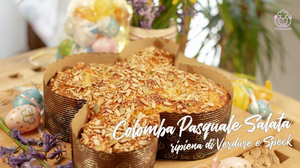 Colomba Salata Ripiena di Verdure e Speck – Ricetta di Pasqua – Impastata con una forchetta!