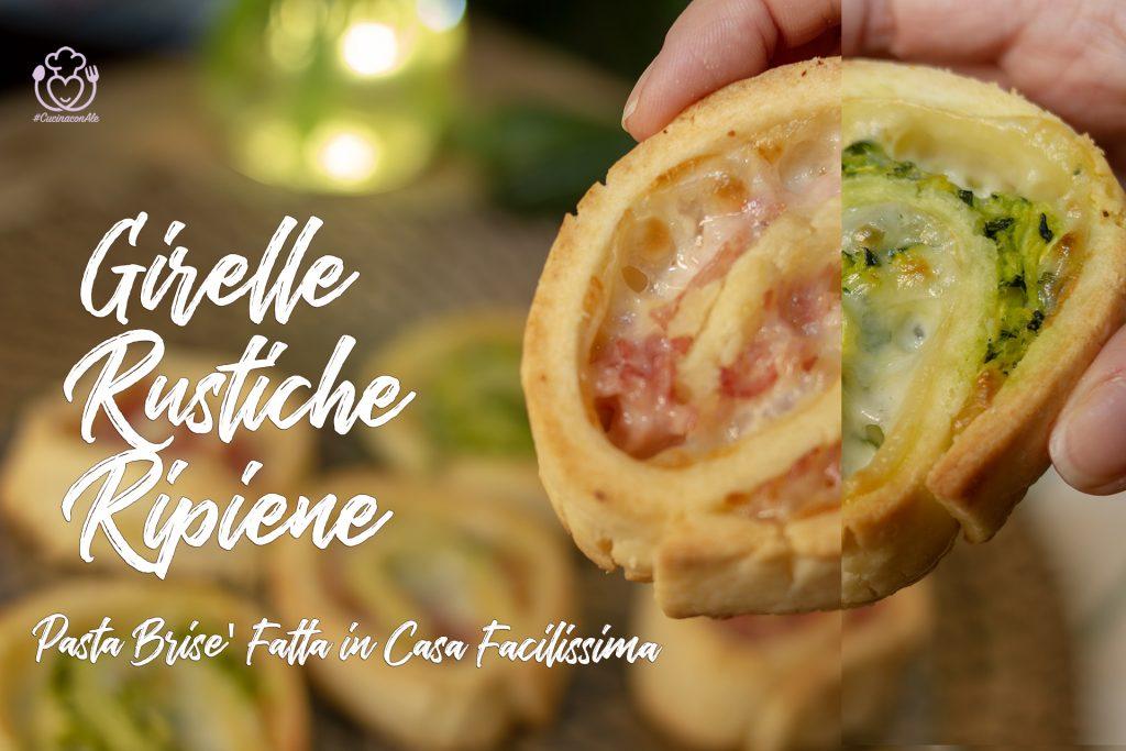 Pasta Brisè Senza Glutine Fatta in Casa con 3 Ingredienti, Facilissima – Girelle Rustiche Ripiene