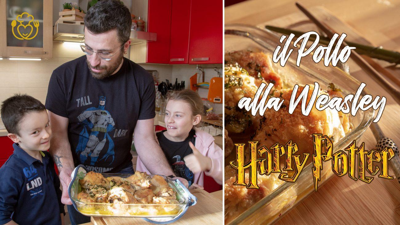 Pollo al Forno alla Weasley, la GlutenFreeFamily Cucina la Ricetta Fantastica di Harry Potter