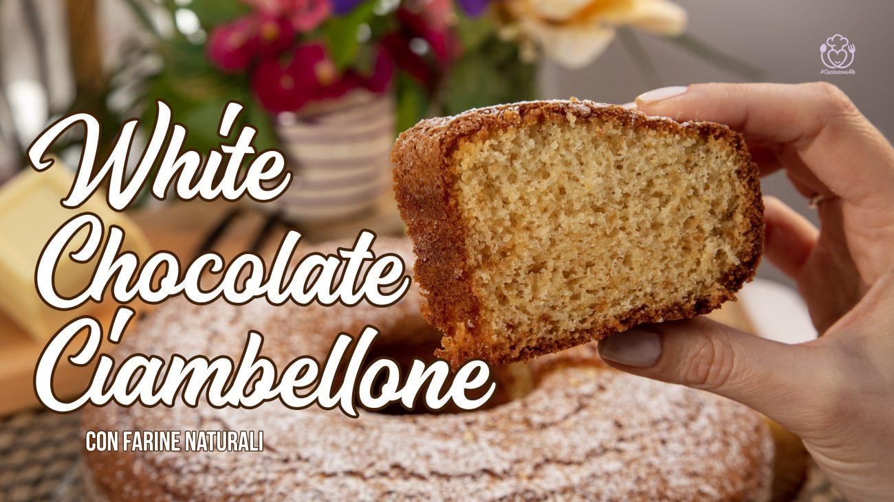 Ciambellone Senza glutine Cioccolato Bianco e Vaniglia con Zucchero di Canna