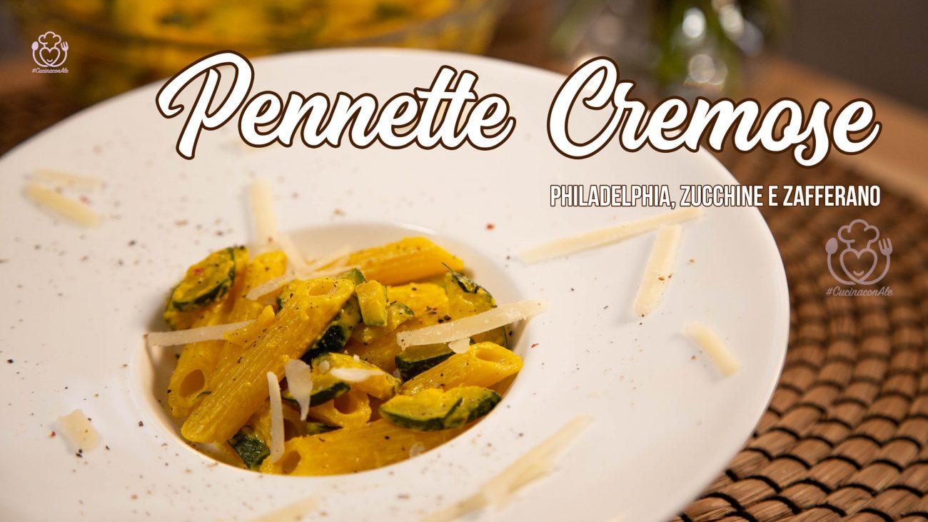 Pennette Cremose Philadelphia, Zucchine e Zafferano Senza Glutine