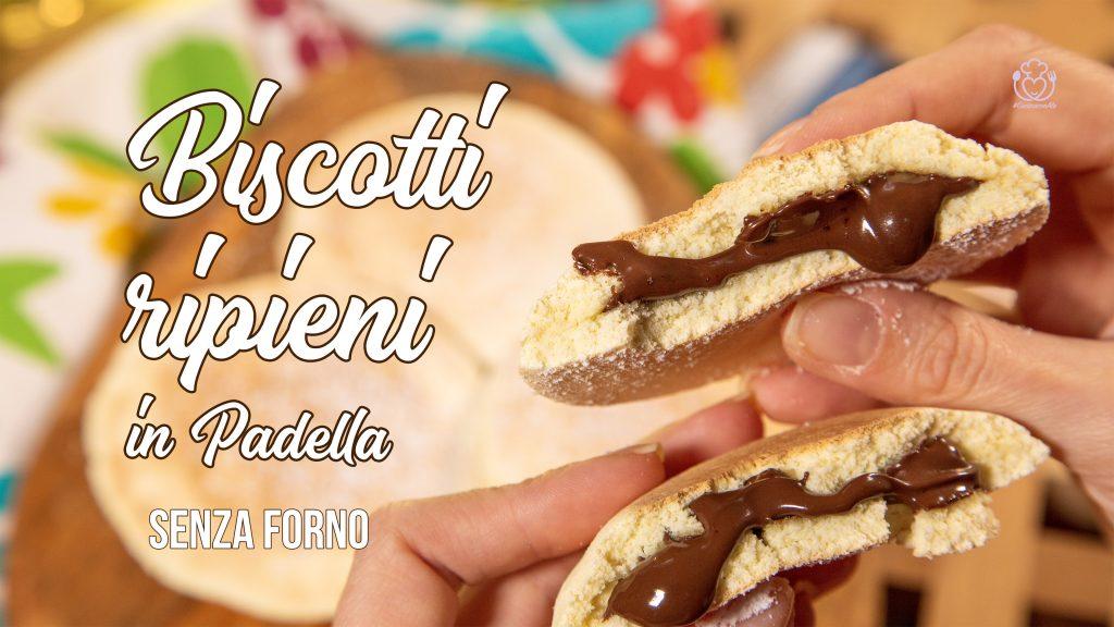 Biscotti Ripieni Senza Glutine e Senza Forno in Padella Senza Burro e Senza Olio