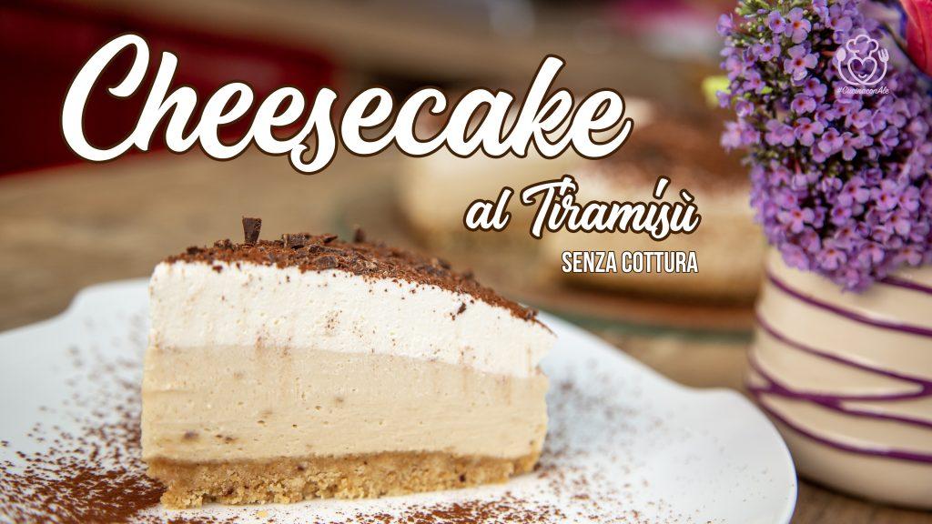 Cheesecake al Tiramisù Senza Uova Crude, Senza Cottura e Senza Colla di Pesce