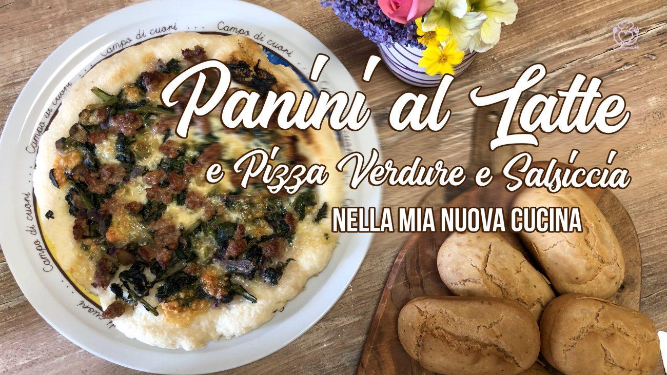 Panini al Latte e Pizza Verdure e Salsiccia nella Mia Nuova Cucina – Kitchen Tour