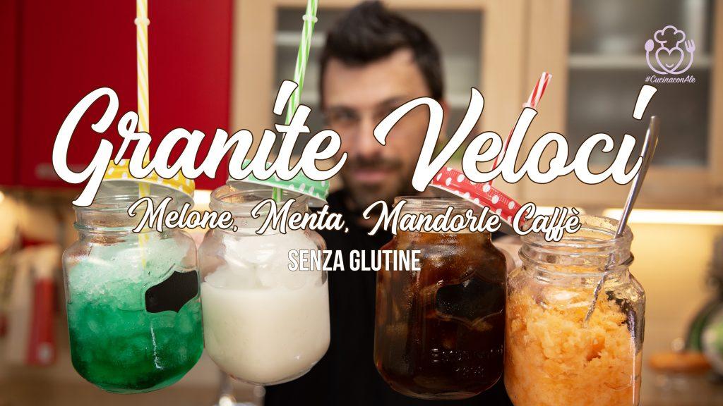 Granite Velocissime con il Blender: alla Frutta, al Caffè e al Latte di Mandorla