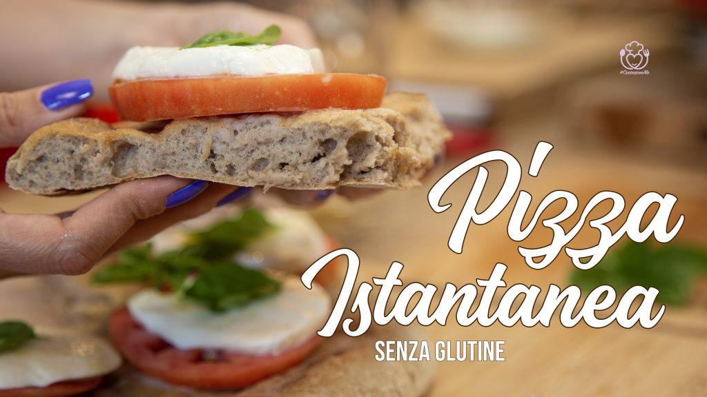 Pizza Semi Integrale Senza Glutine Caprese Istantanea, Senza Lievito di Birra, con Bicarbonato e Cremor Tartaro