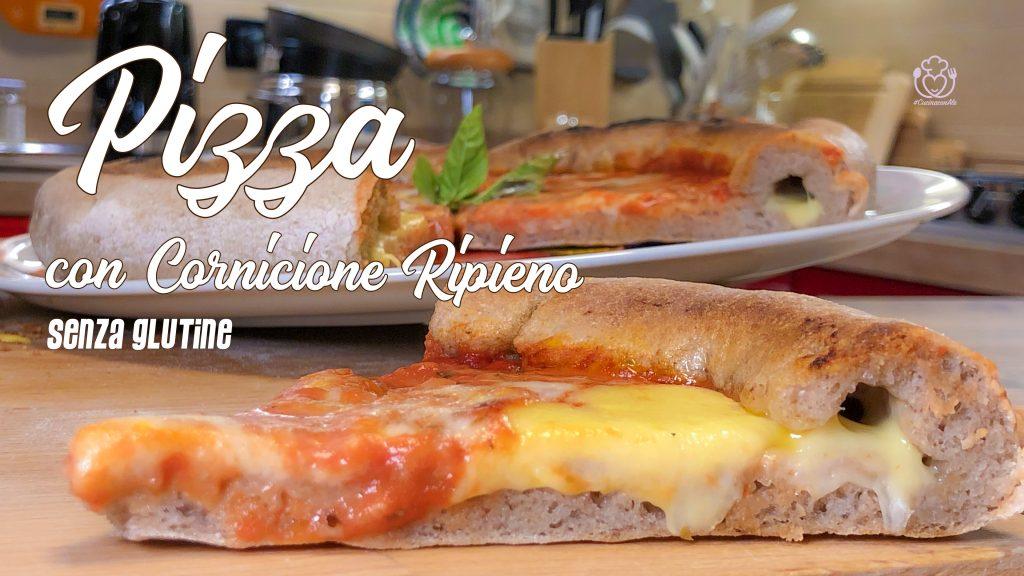 Pizza Senza Glutine Con Cornicione Ripieno di Formaggio Morbido e Filante
