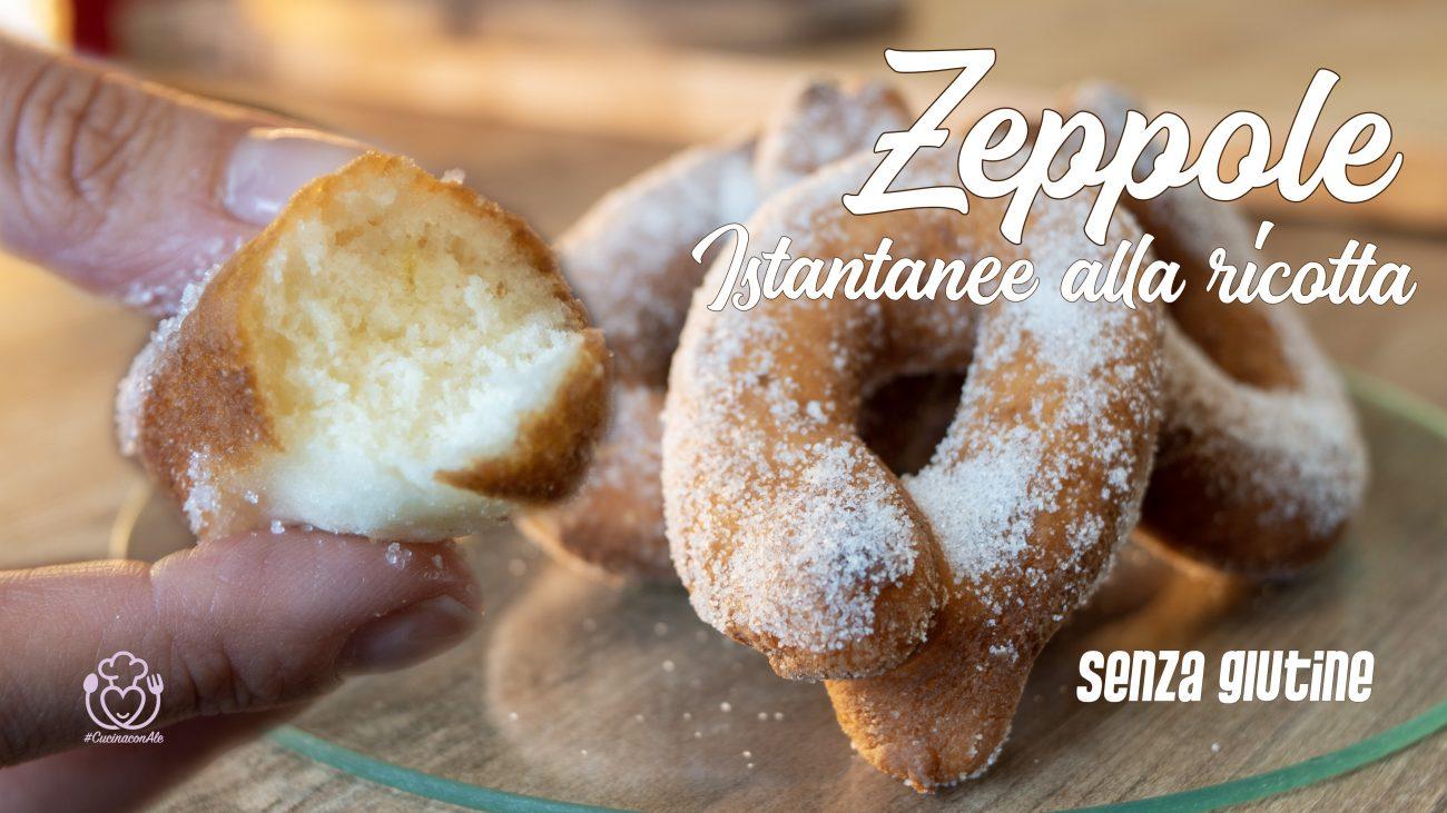Zeppole, Graffe o Graffette Senza Glutine alla Ricotta, Istantanee Senza Lievito di Birra